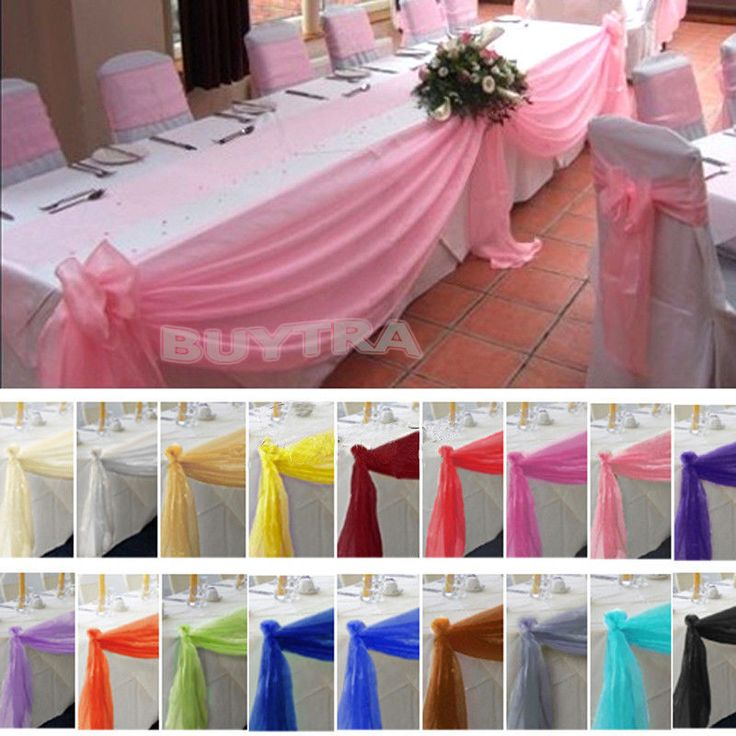 5M*0.5M Top Table Swags Sheer Organza Fabric DIY Wedding Party Bow Decorations #new
