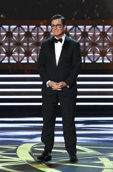Host Stephen Colbert speaks onstage during the 69th Emmy Awards at the Microsoft Theatre on September 17, 2017 in Los Angeles, California.