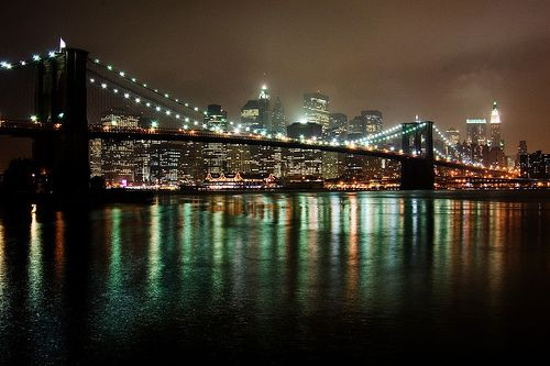 Best place to walk in NYC?  The #brooklynbridge at night.New York Cities, Favorite Places, Brooklyn Parks, Cities Chic, Beautiful Places, Brooklyn Bridges, The Bridges, Nyc, Zoe Cities