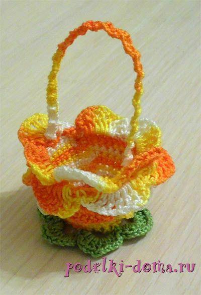 crochet basket for easter eggs podstavka korzinka9