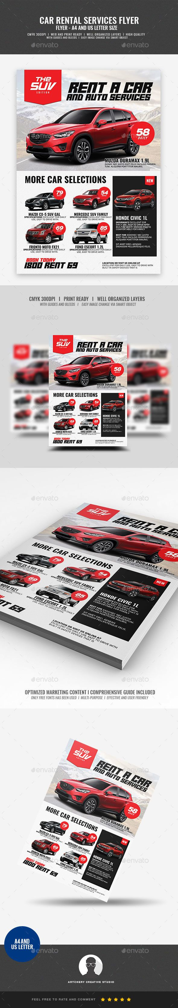 #Car Rental Promotional Flyer - #Corporate #Flyers