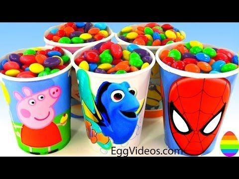 Candy Surprise Toys Peppa Pig Superhero Disney Princess Learn Colors Pla... #candy #chocolate #sweet #food #love #sweets #crush #yummy