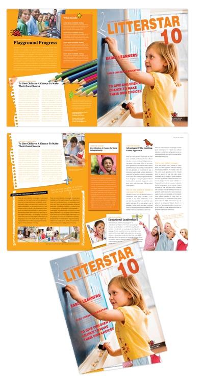 Learning Center \ Elementary School brochure design design - kindergarten brochure template