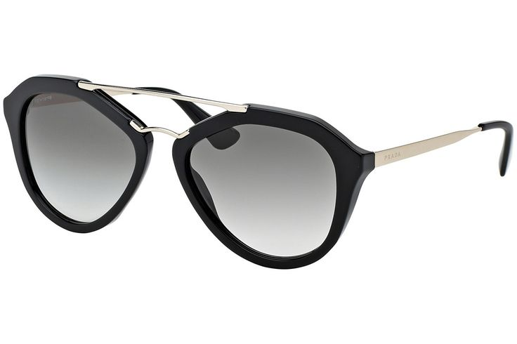Prada Cinema Goth-Style Sport-Glam PR12QS 1AB0A7 Slnečné okuliare Čierna