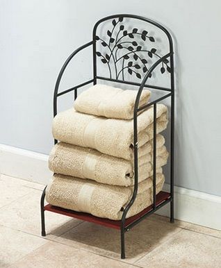 bathroom towel storage - Google Search