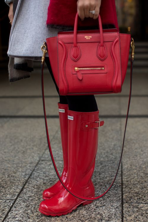Red Rain Boots - Gal Meets Glam