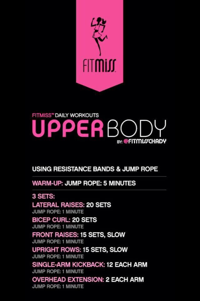 Upper body workout fit miss