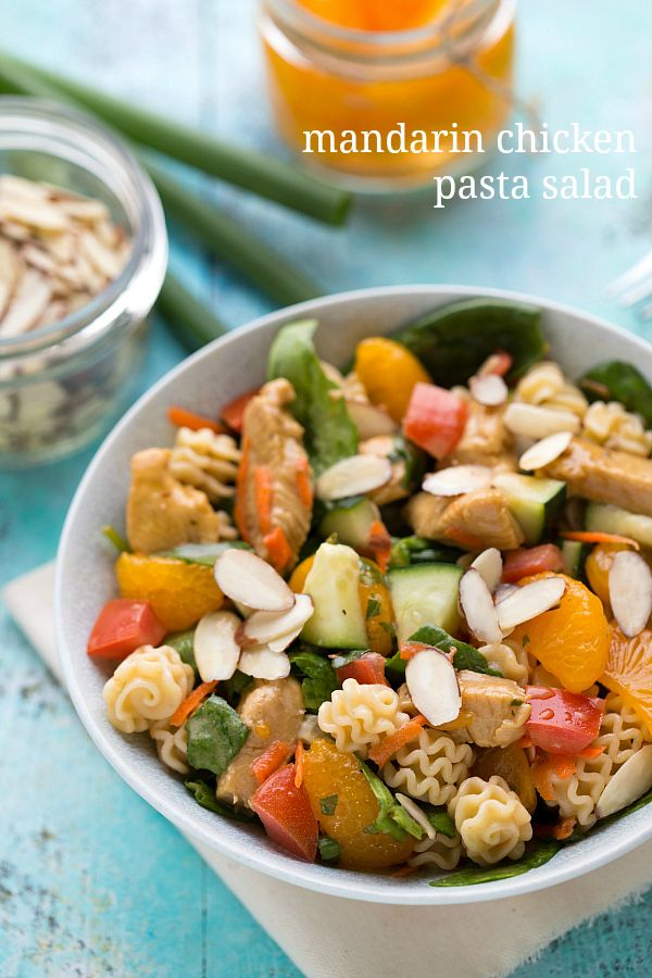 The best mandarin chicken pasta salad!