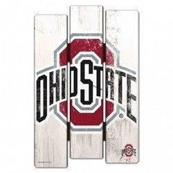 Ohio State Buckeyes Wood Fence Sign