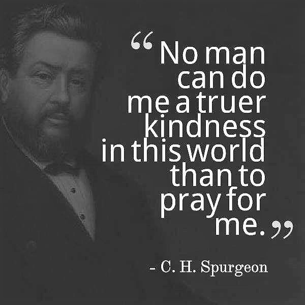 Spurgeon: pray for me