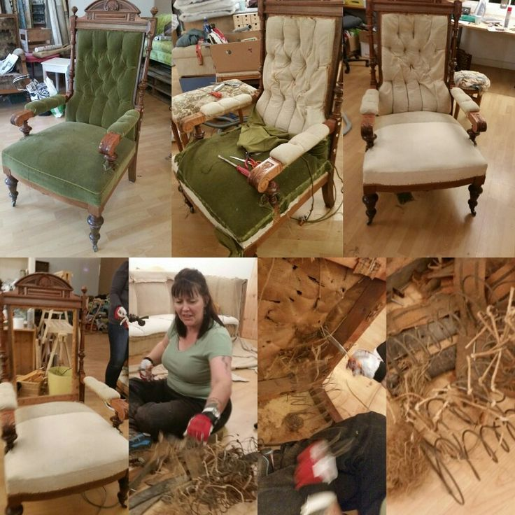 Makeover for the old throne chair. This chair is from late 1800 century. And soon it will become my personal throne