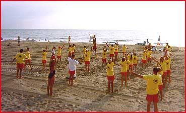 For our Rehobeth trip, lifeguard classes for the kids.