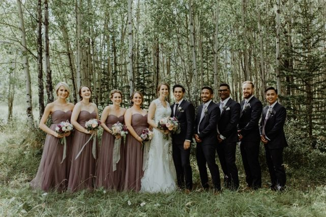 wedding planner, kismet and clover, canmore and banff wedding planner, rustic wedding, vintage wedding, wedding decor, rundleview park, wedding party, bridesmaids, groomsmen, wedding fashion, grey lavender
