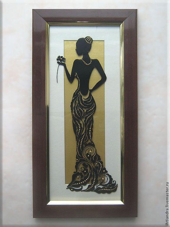 Купить Витражное панно Незнакомка с цветком - Витражная роспись, витражное панно, витражная картина, белый