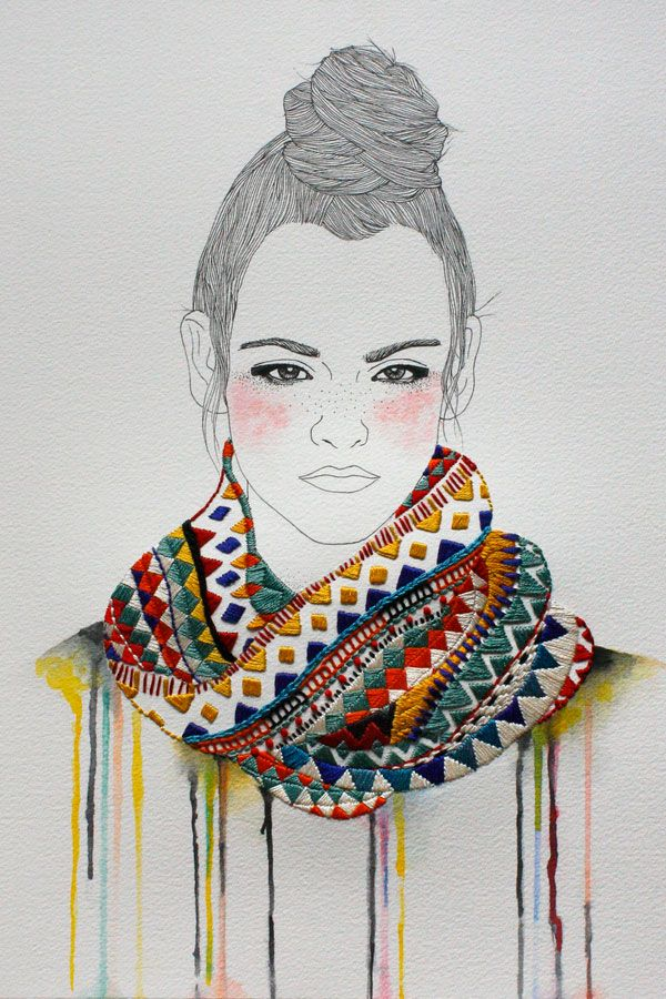 Embroidery and illustration Work by Izziyana Suhaimi