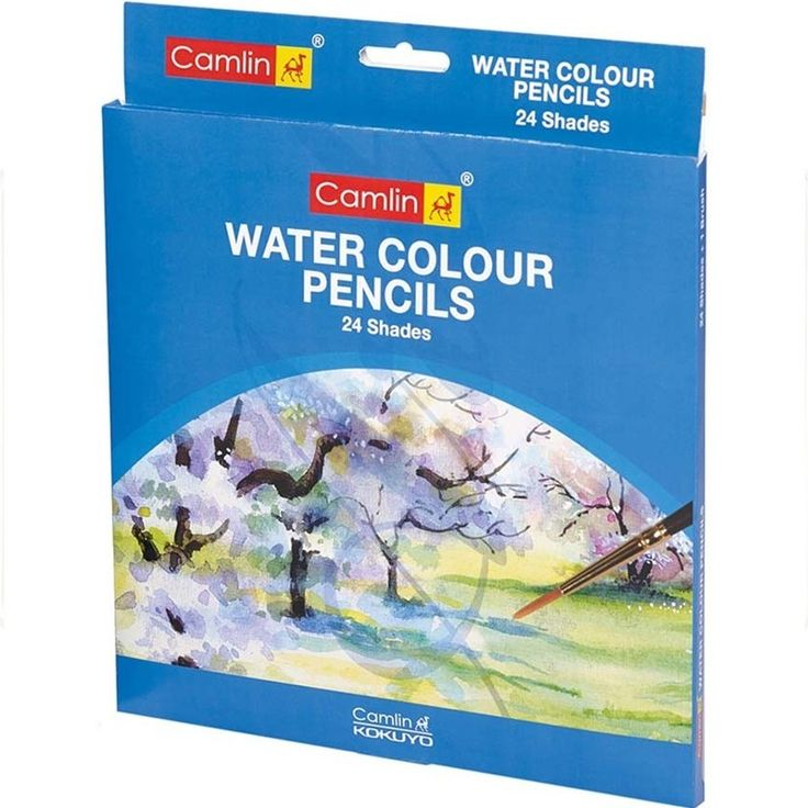 Buy #Camlin #WaterColor #Pencils - 24 #Shades at Best Price in India for Rs.388/-