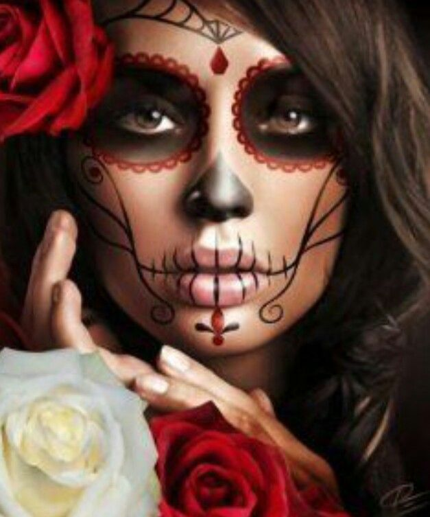 13 best Face paint-halloween images on Pinterest Day of the dead - face painting halloween ideas
