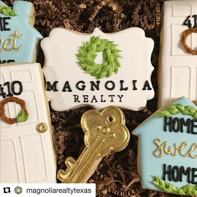 #Repost @magnoliarealtytexas with @repostapp ・・・ We are huge fans of these adorably delicious closing gift cookies! Thanks so much for sharing, @shortbreadbakingco ! #magnoliarealty  You guys. I'm freaking out a little because this morning Magnolia Realty posted a picture of some recent cookies I made for a closing! I mean, who doesn't love Chip and Joanna?! After a rough week, this is the kind of thing that really gets me pumped!