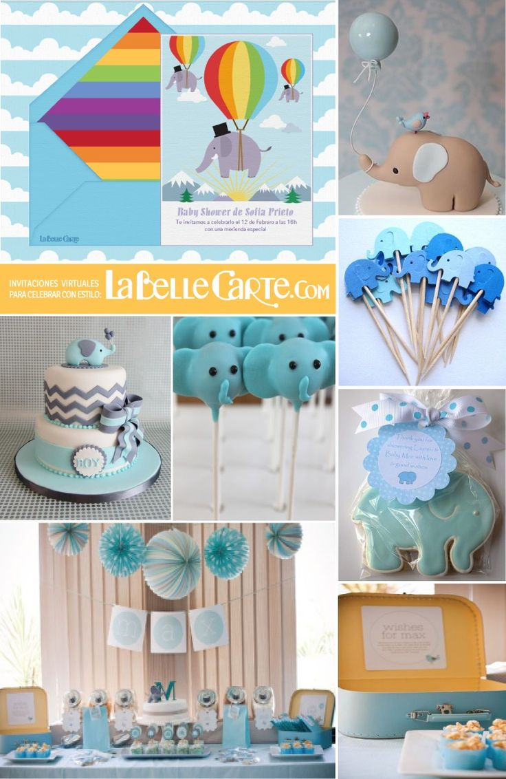 para baby shower e ideas para decorar un baby shower de elefantes