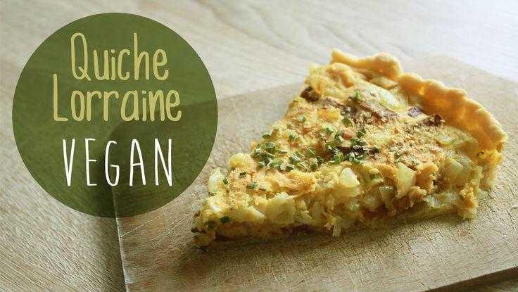 QUICHE LORRAINE | Sans Oeuf, ni Crème, ni Fromage    (Vegan)