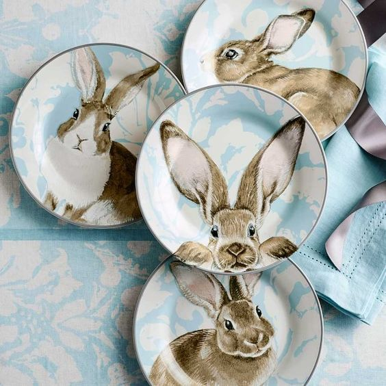 PETER COTTONTAIL~ BUNNY PLATES