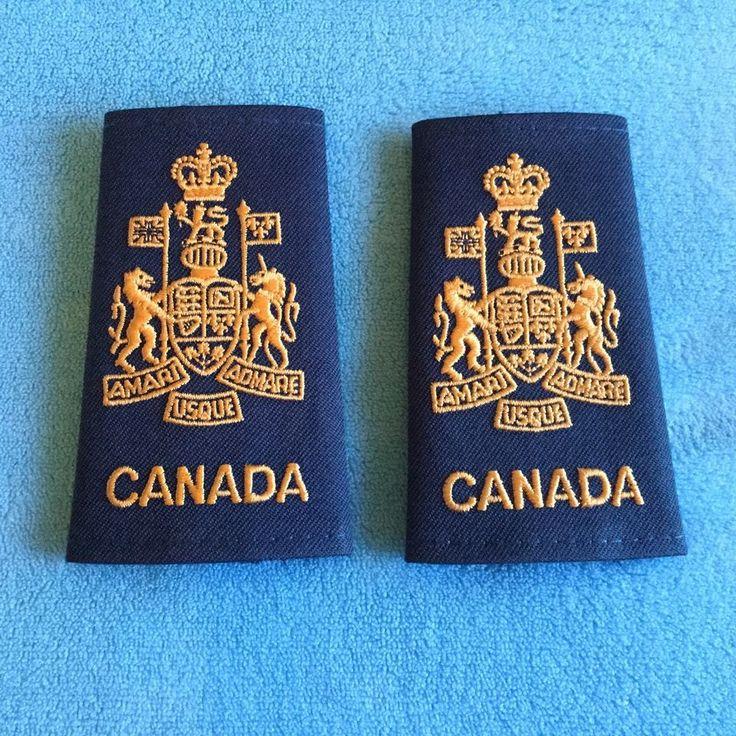 """Canadian Military Rank Shoulder Epaulets """"Canada AMARI ADMARE USQUE"""""""