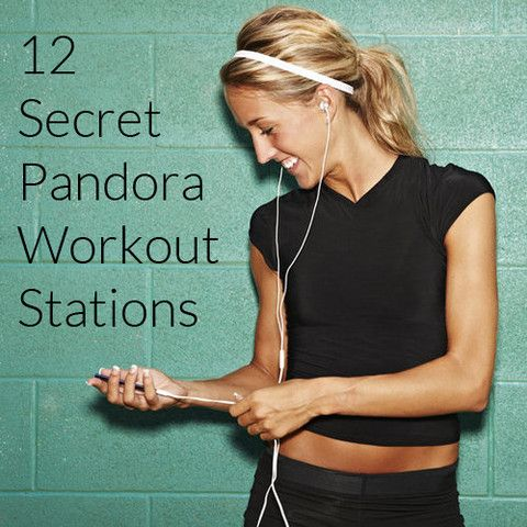 12 Secret Pandora Workout Stations - a good list of workout music 2014.....figure out what you like!