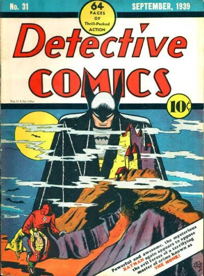 Detective Comics #31 cover by Bob Kane