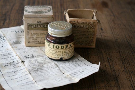 Iodex Jars with Partial Contents in Original Boxes by FoundByHer