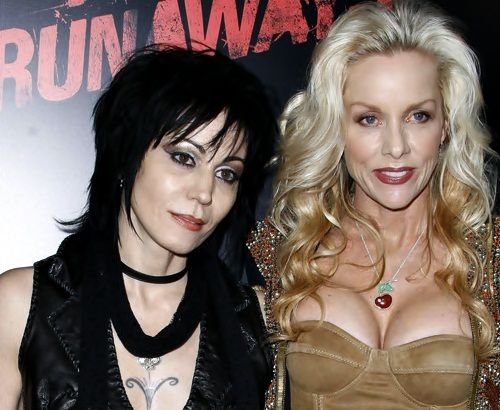 Joan Jett and Cherie Currie at The Runaways film premiere.