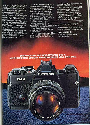 Vintage Olympus Camera Advertisement
