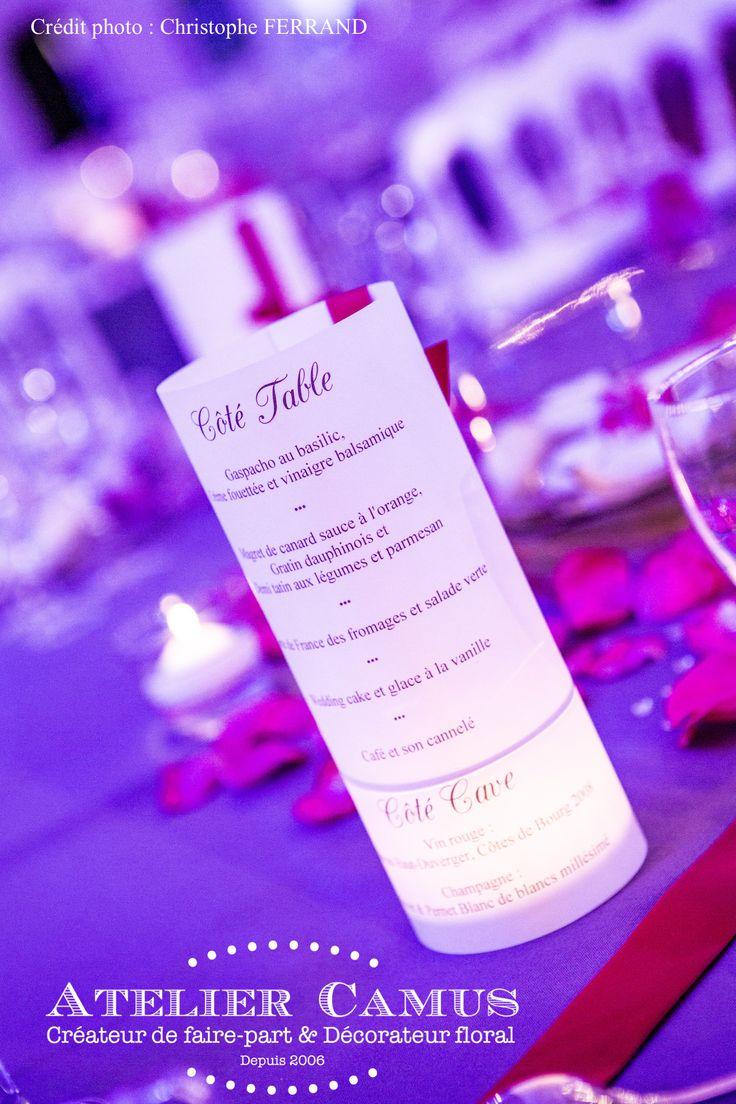 Photophore pour menu marriage counselor
