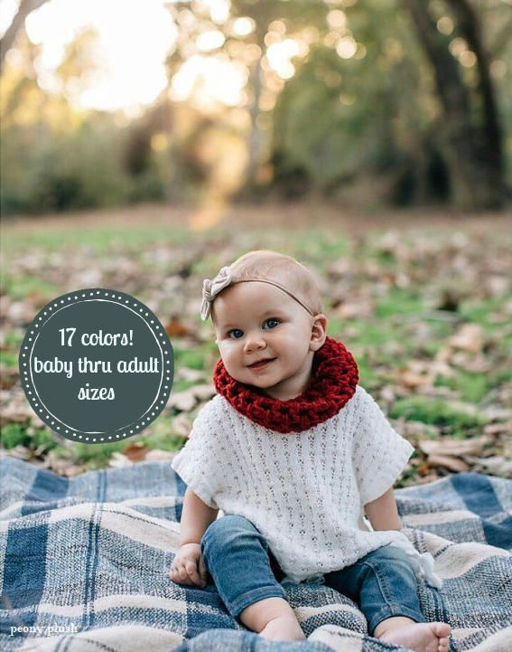 Baby Girl Fall Outfit . Baby Knit Cowl . Red Toddler Cowl