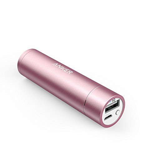 Anker (New Release) PowerCore+ mini (3350mAh Premium Aluminum Portable Charger) Lipstick-Sized External Battery Power Bank for iPhone 6 / 6 Plus, iPad Air 2 / mini 3, Galaxy S6 / S6 Edge and More (Pink) Anker http://www.amazon.com/dp/B00EET7UHE/ref=cm_sw_r_pi_dp_6YB4vb1673964