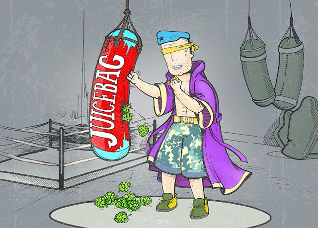 illustration by #dushky | #art #illustration #beer #label #juicebag #bereta #box #boxing #design