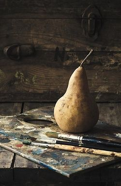 sweetlysurreal:  The Painter's Pear by Amy Weiss