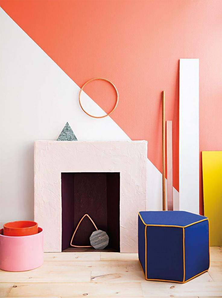 geometric shapes half painted walls good color on color combinations for home interiors id=27313