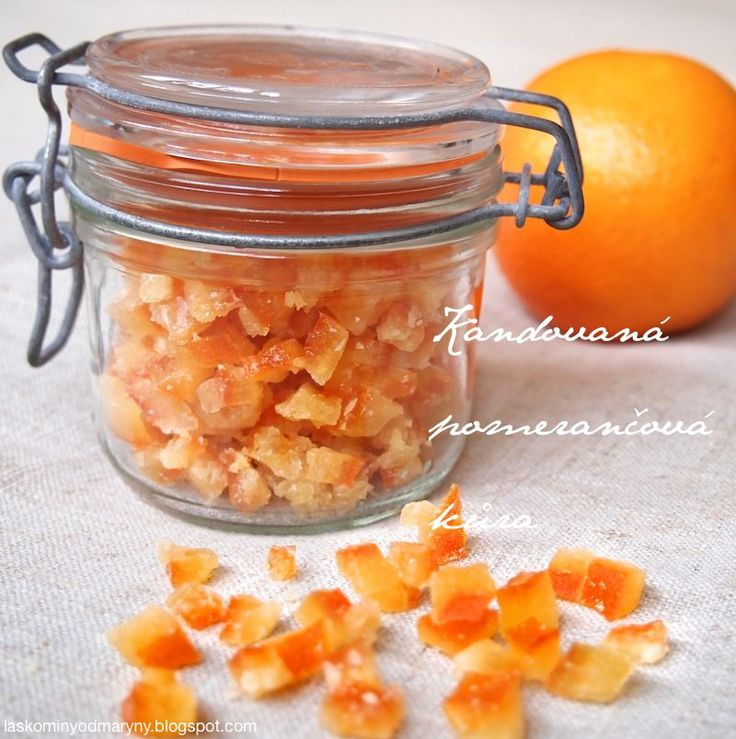Laskominy od Maryny: Kandovaná pomerančová kůra