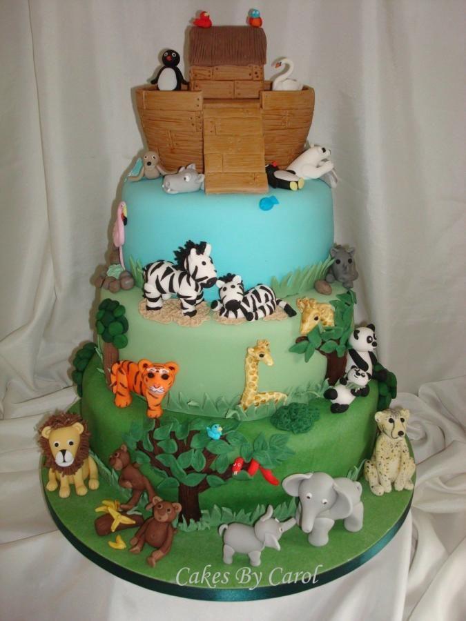 Noahs Ark Wedding cake by Cakes By Carol