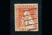 Toscana - 60 crazie scarlatto su carta grigia (n.9a - 42.000)
