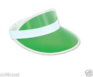 Las-Vegas-Poker-Dealer-Bingo-Plastic-Clear-Visor-Hat-Fear-Loathing-GREEN