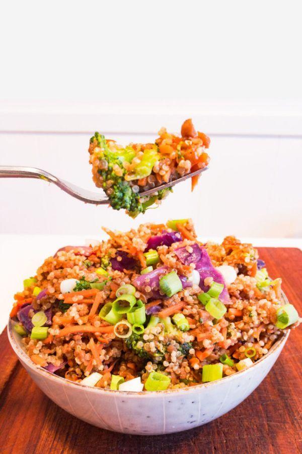 Super Easy Super Yum Vegan Dish Vegan Beef Quinoa Bowl Recipe Summer Grilling Recipes