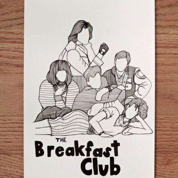 The Breakfast Club pen drawing  #movies #art #dorm