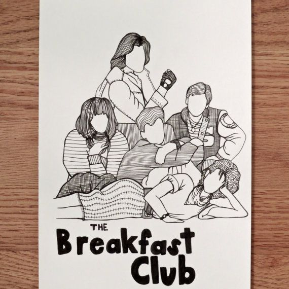 The Breakfast Club pen drawing  #movies #art #dorm