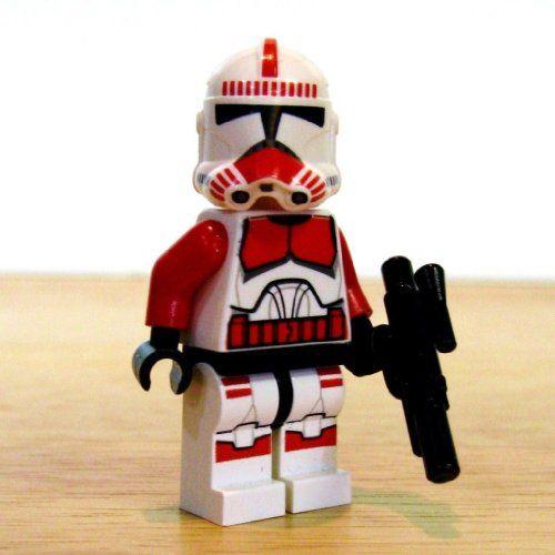 Lego Star Wars Minifigure Red Shock Clone Trooper W