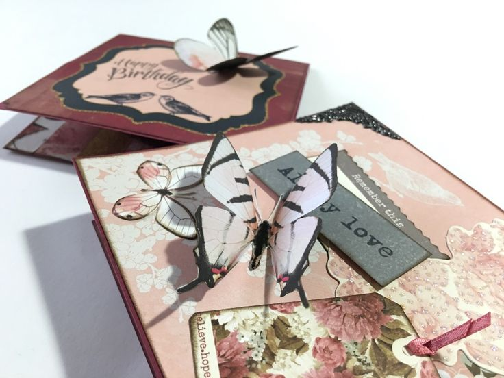 Two Butterfly Cards with Kaisercraft's Ma Cherie | Creator's Image Studio