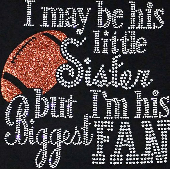 Rhinestone Iron On Football Sister Rhinestone by BlingMeBaby, $14.99
