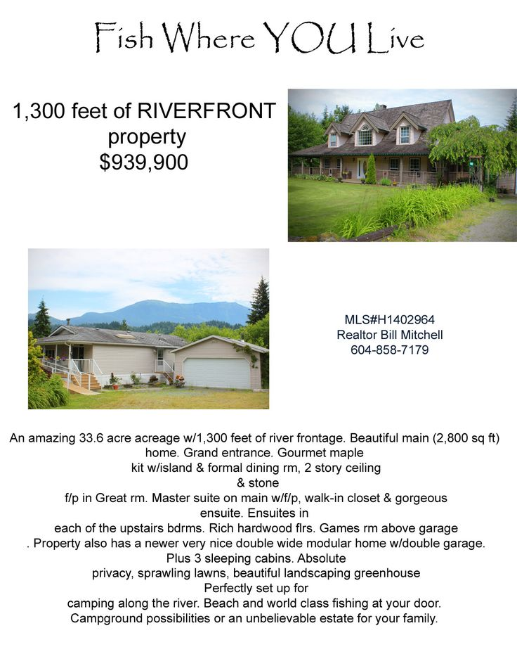 33.6 acre Estate in the Chilliwack River Valley