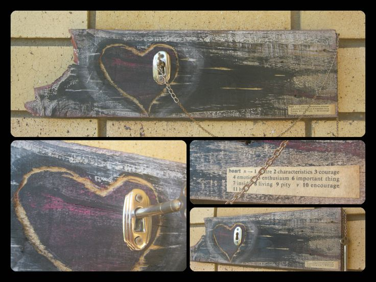 Key to my Heart Recycled Creation by Amber Ament from Raw, Rough & Recycled #BetheChangeforaGreenerFuture