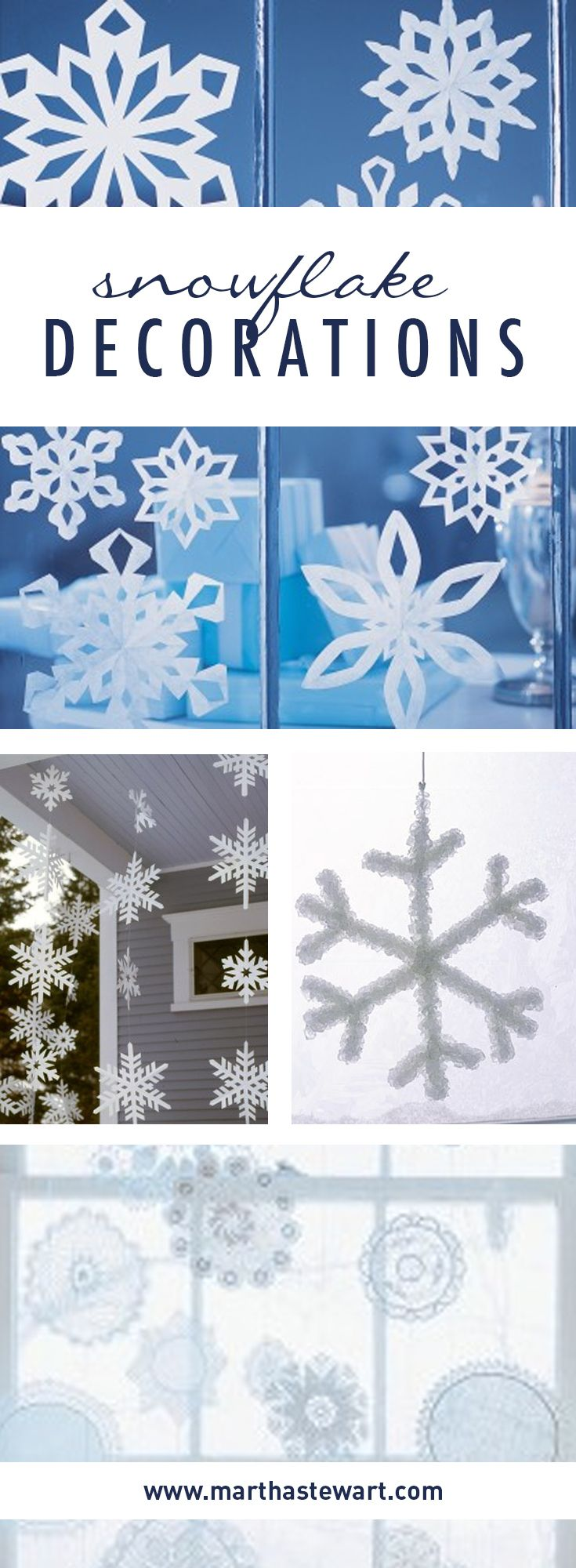 With their fanciful geometric designs, delicate snowflakes are the perfect inspiration for winter craft projects.
